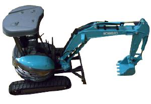 建設機械のミニチュア